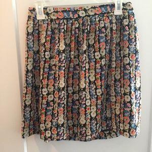 Jcrew floral skirt